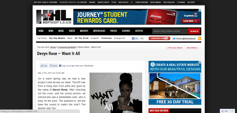 ::New Review:: Devyn Rose #WantItAll Reviewed on HipHopLead.com!