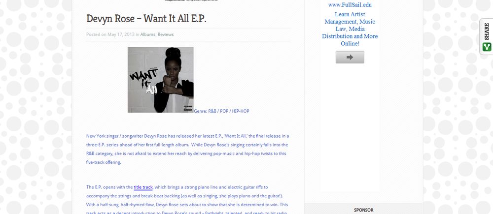 ::New Review:: Devyn Rose #WantItAll Reviewed on PopCulturez.com!